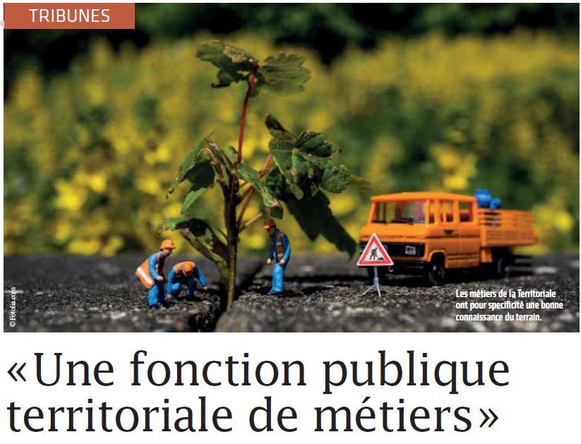 """""""Une fonction publique territoriale de métiers"""" – article Ingénierie Territoriale n°29 – octobre 2017"""